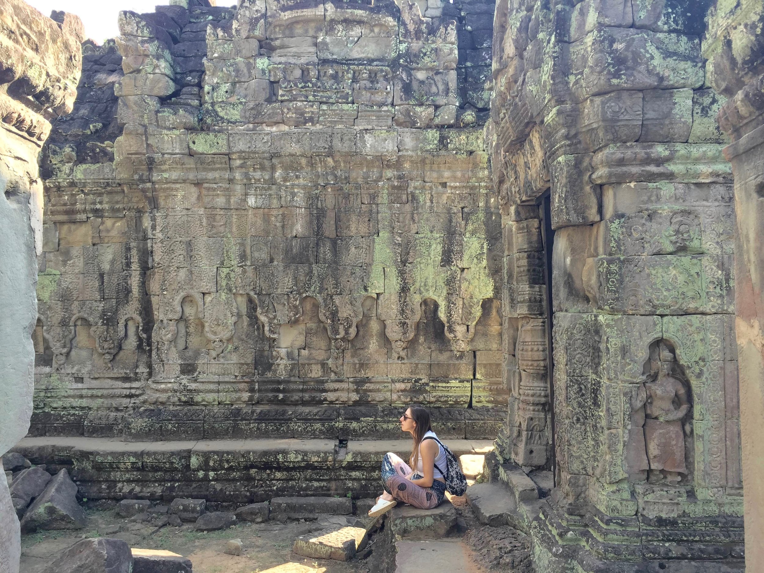 Contemplating the meaning of life at Preah Khan.