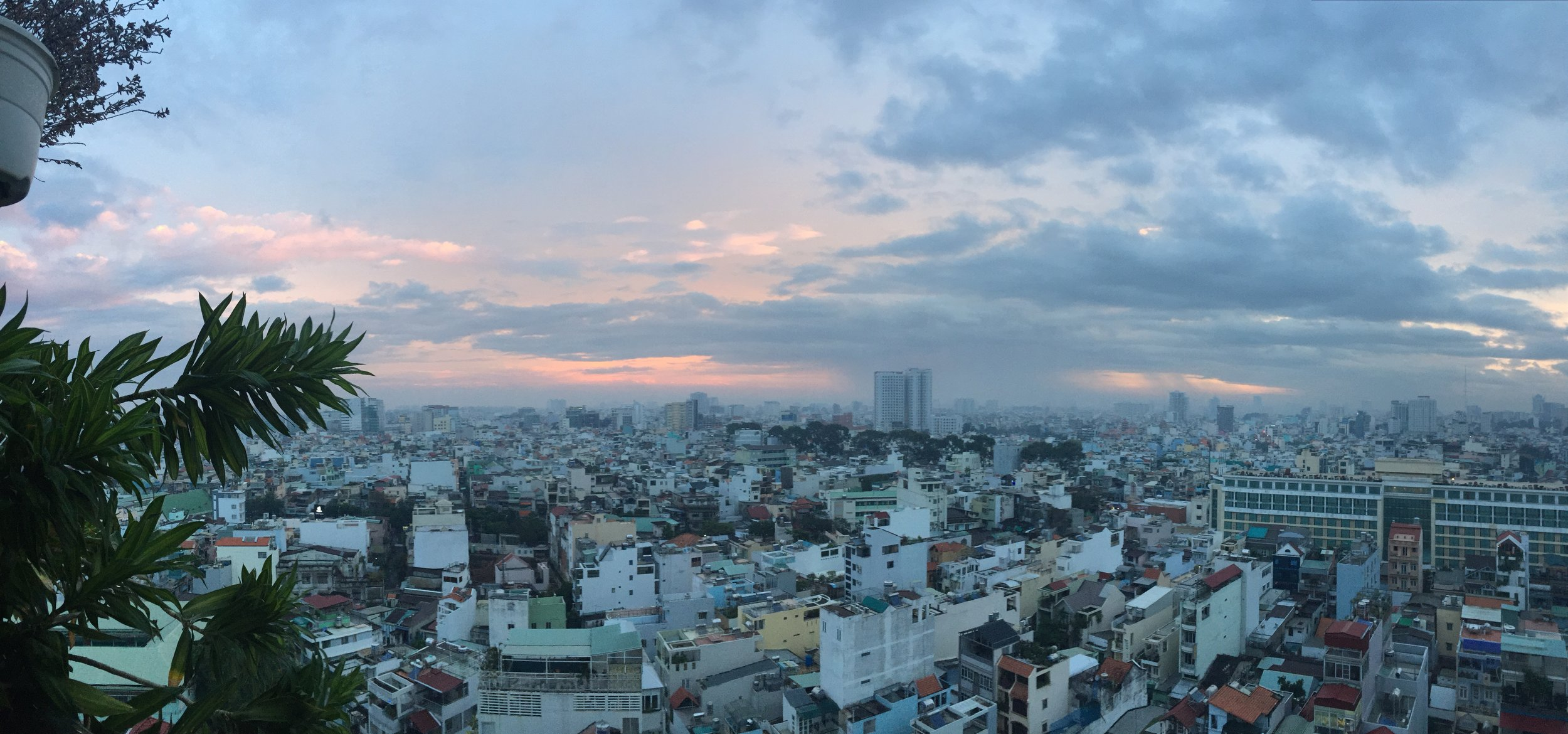 The view from our Airbnb in Saigon (Ho Chi Minh City). #nofilter