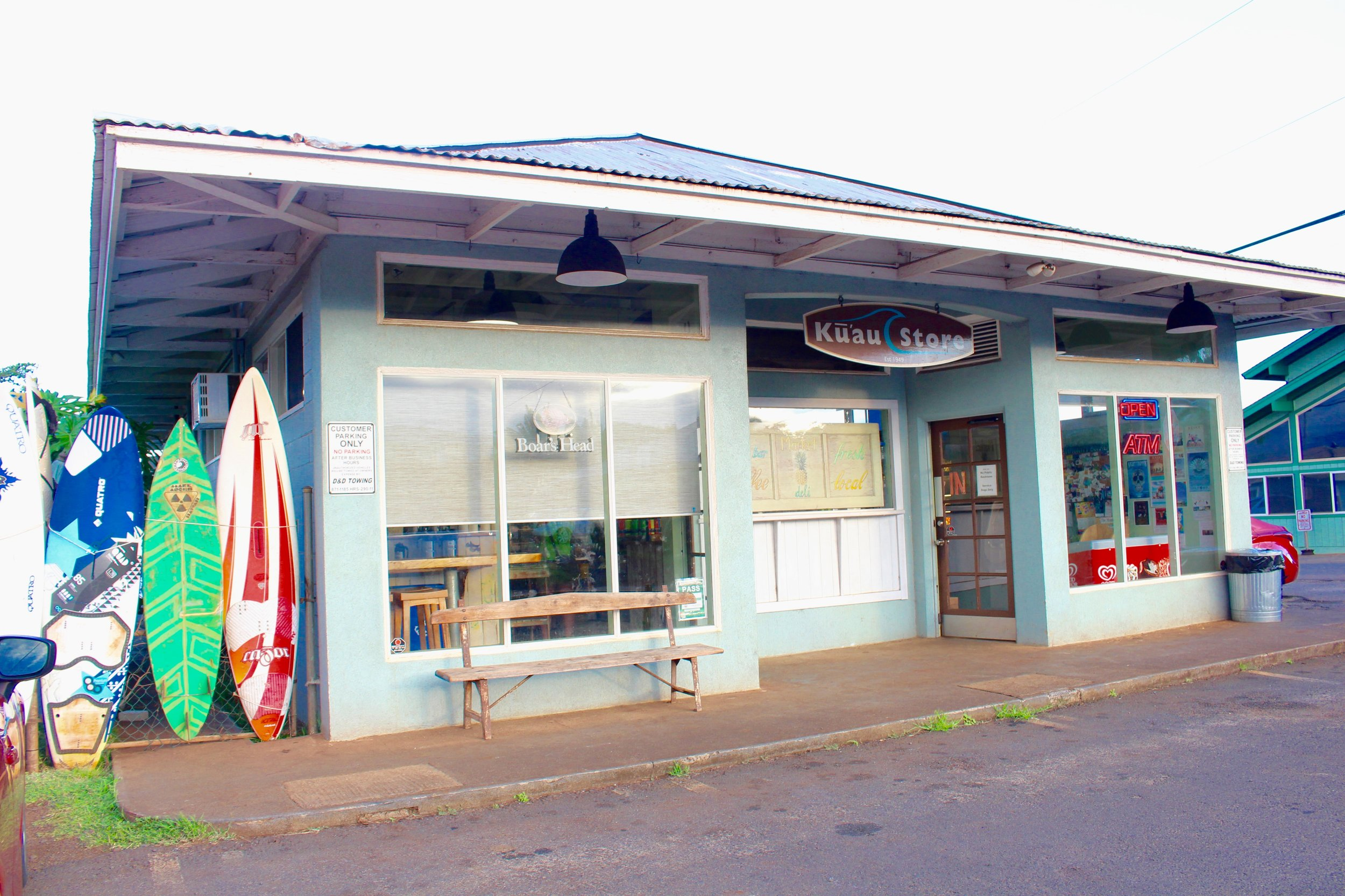 The Kuau Store. Don't forget water!