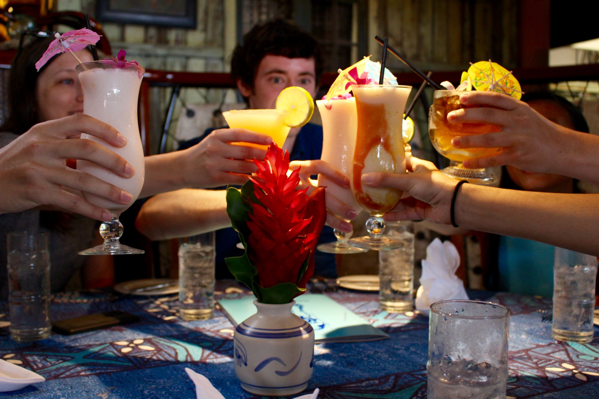 Cheers to the beginning of an incredible meal.