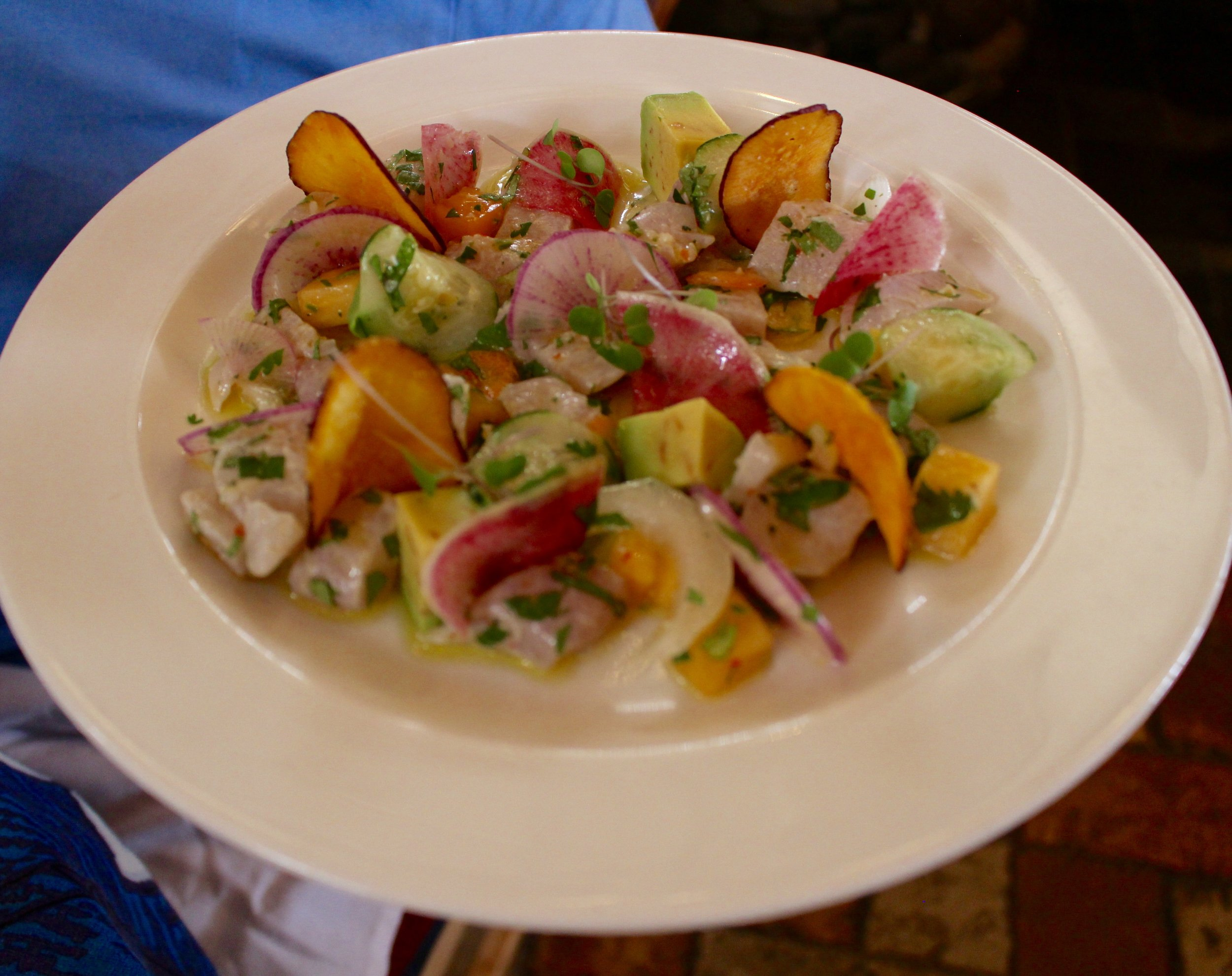 Fresh ceviche to share!