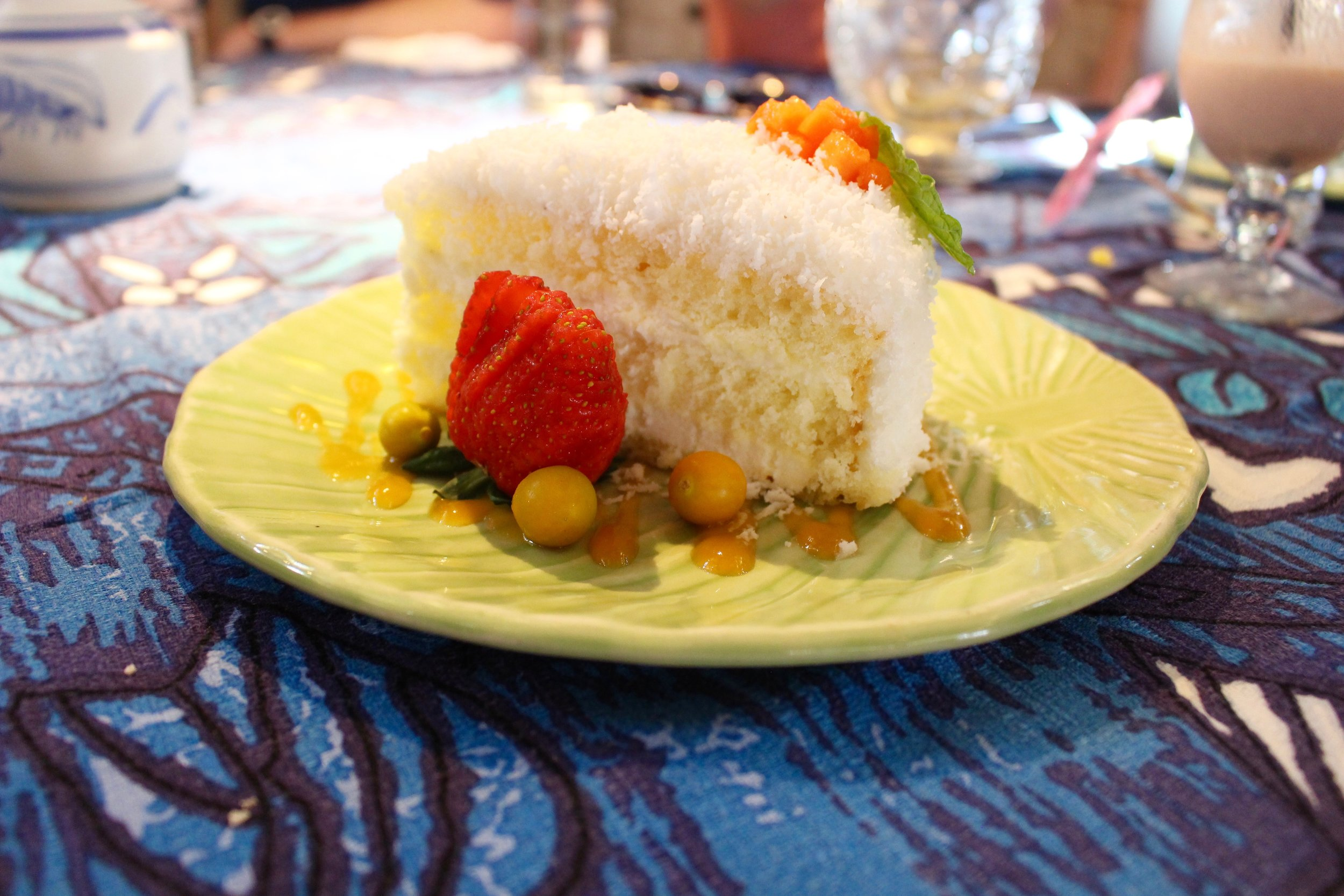 This was an off-menu coconut cake.