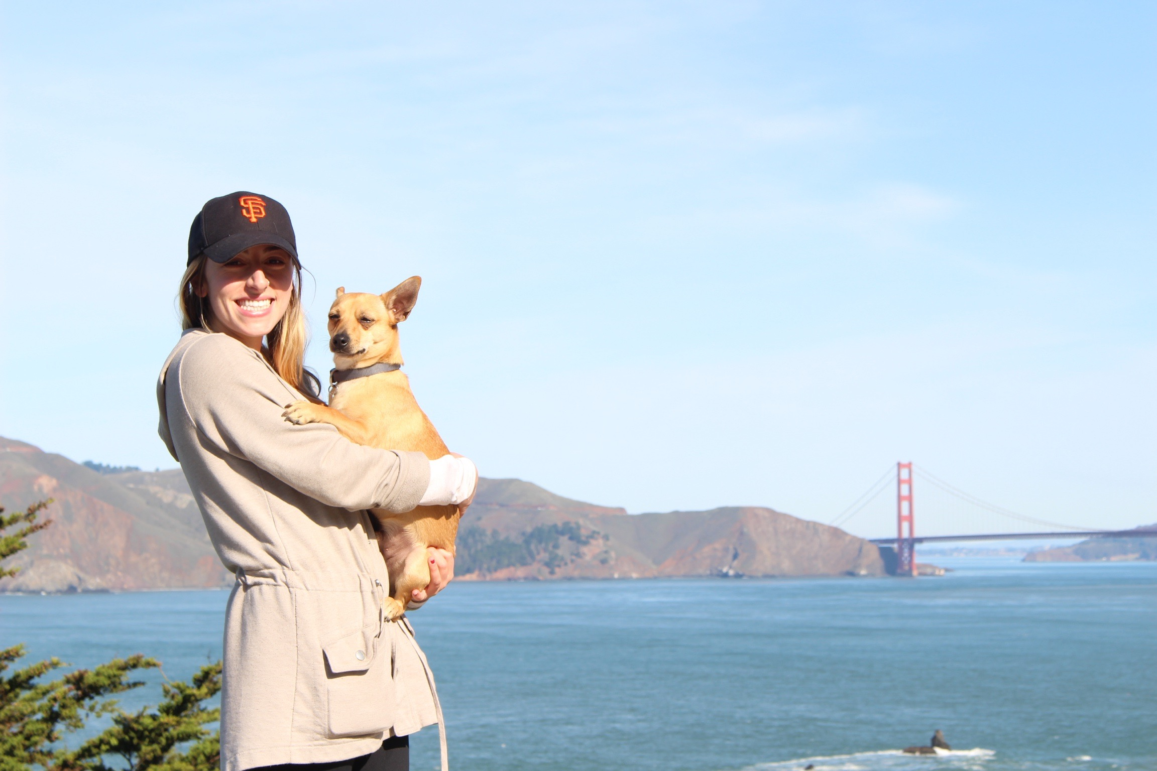 Hiking Land's End with my family. It was the perfect day with clear skies to see the Golden Gate Bridge. (November, 2016)