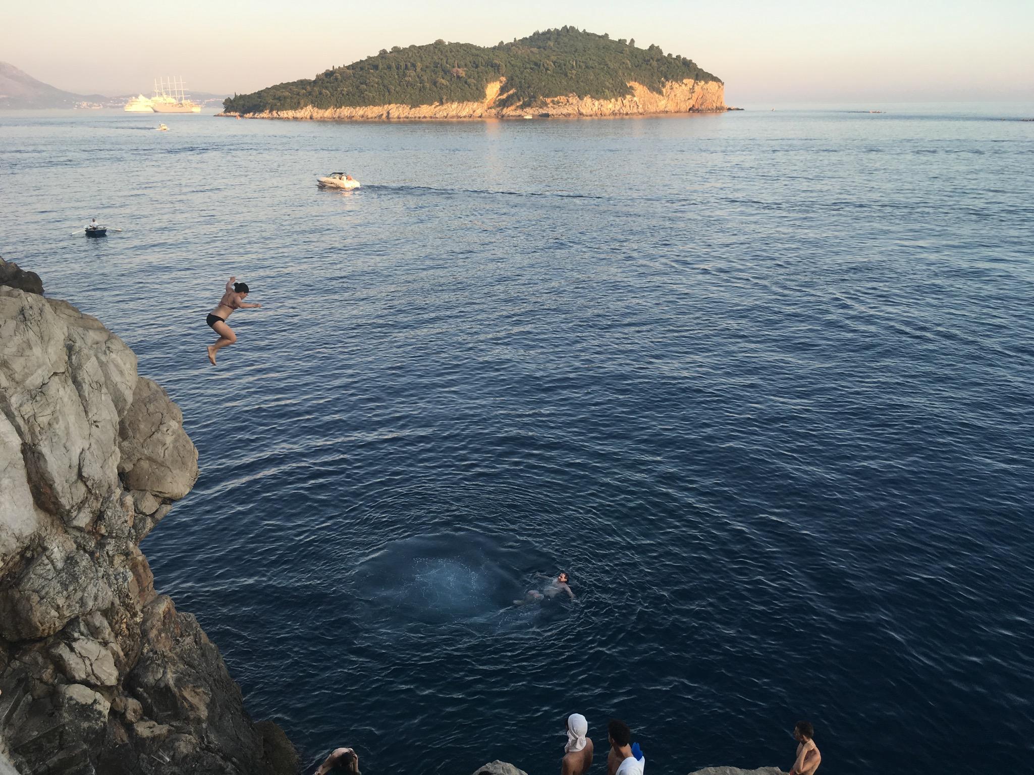 Rosé gives you wings at Buza Bar Dubrovnik, Croatia (July,2016)
