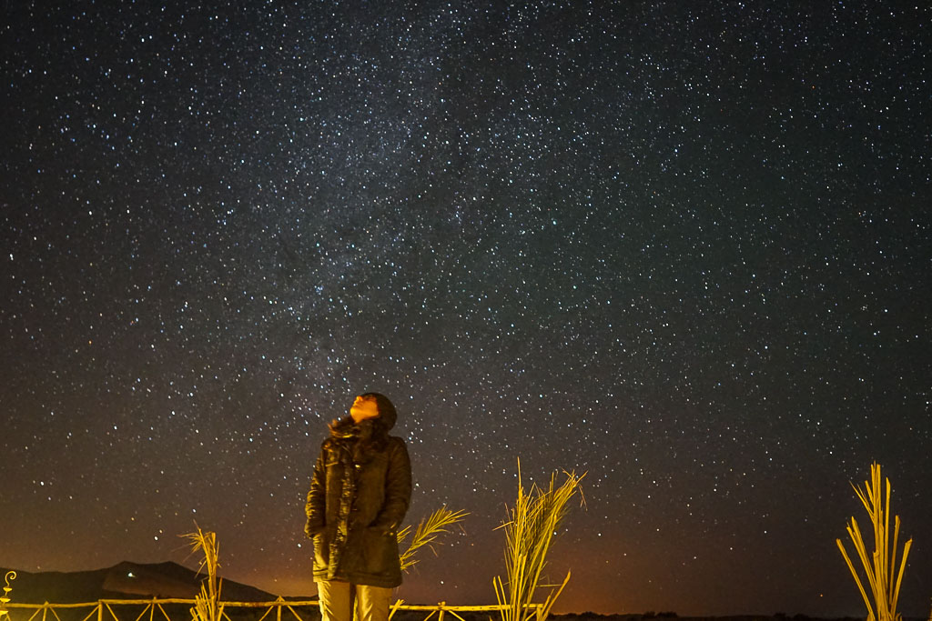 The stars were unreal. Yes, that's the milky away above me.