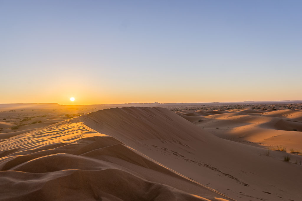 Unbelievable sunrise over Algeria