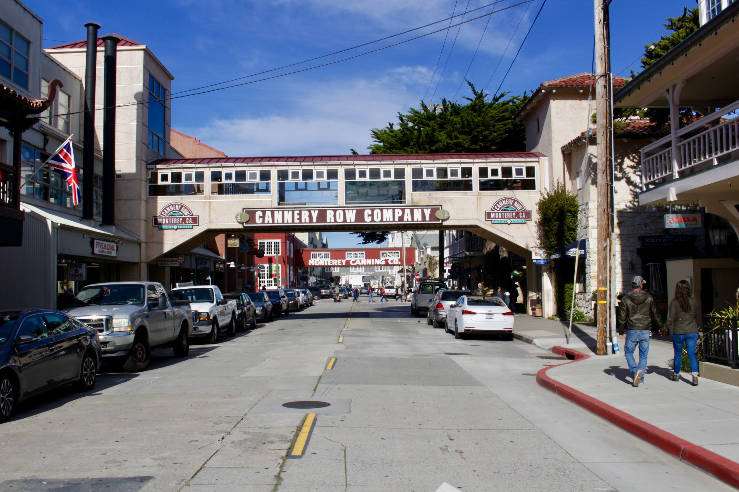 Strolling Cannery Row. Fun fact: It was called Ocean View Avenue until it was officially named Cannery Row in 1958.