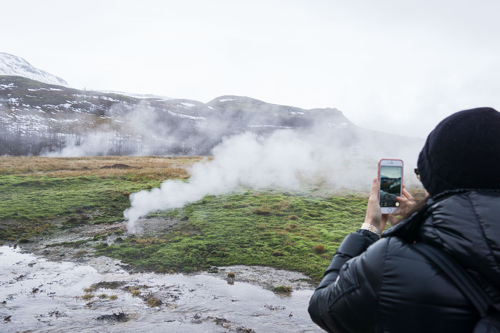 Amazed by the geothermal field.