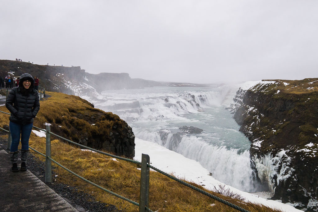 Excited we made it to Gullfoss!