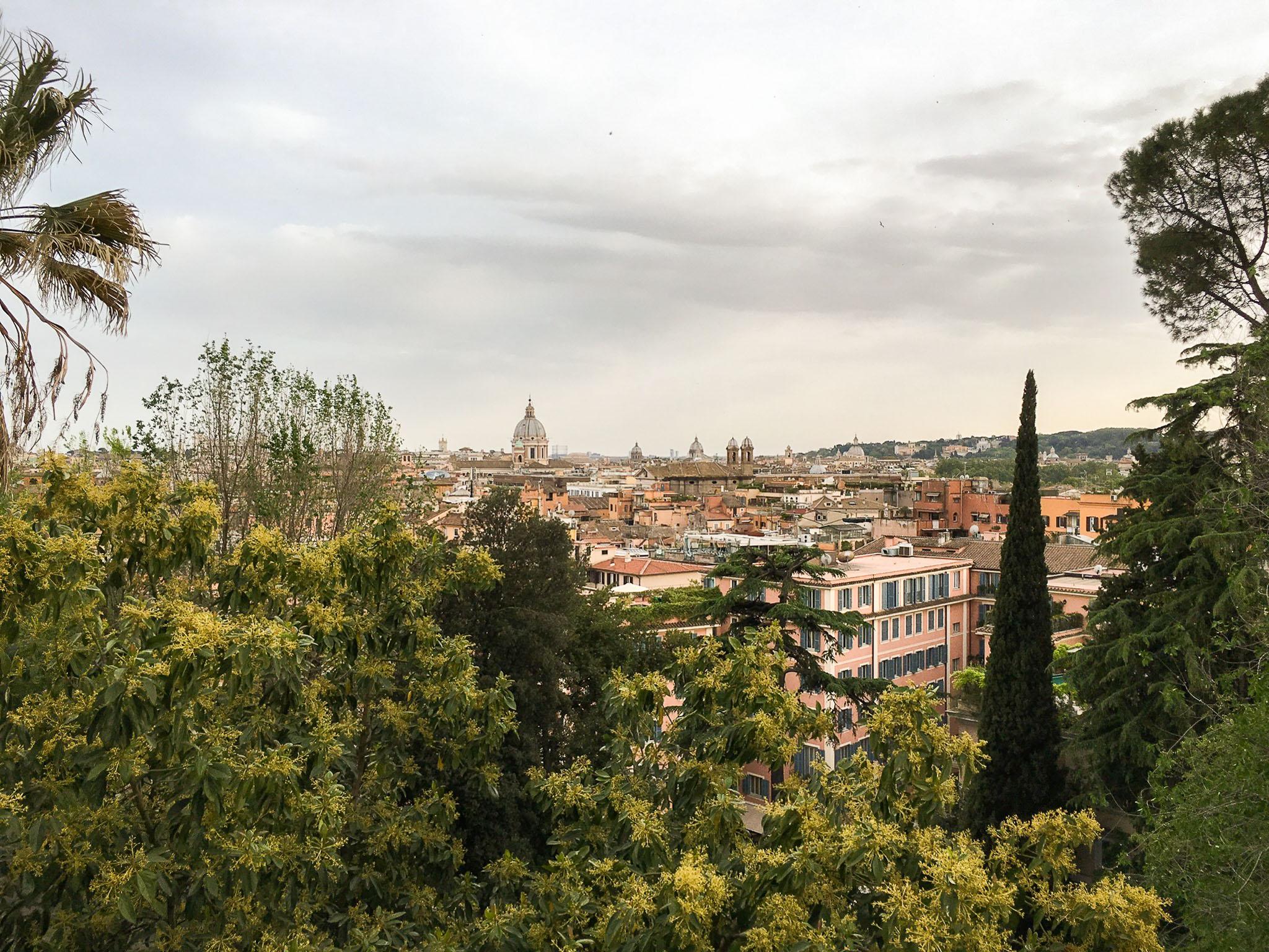 Overlooking the city from del Pincio