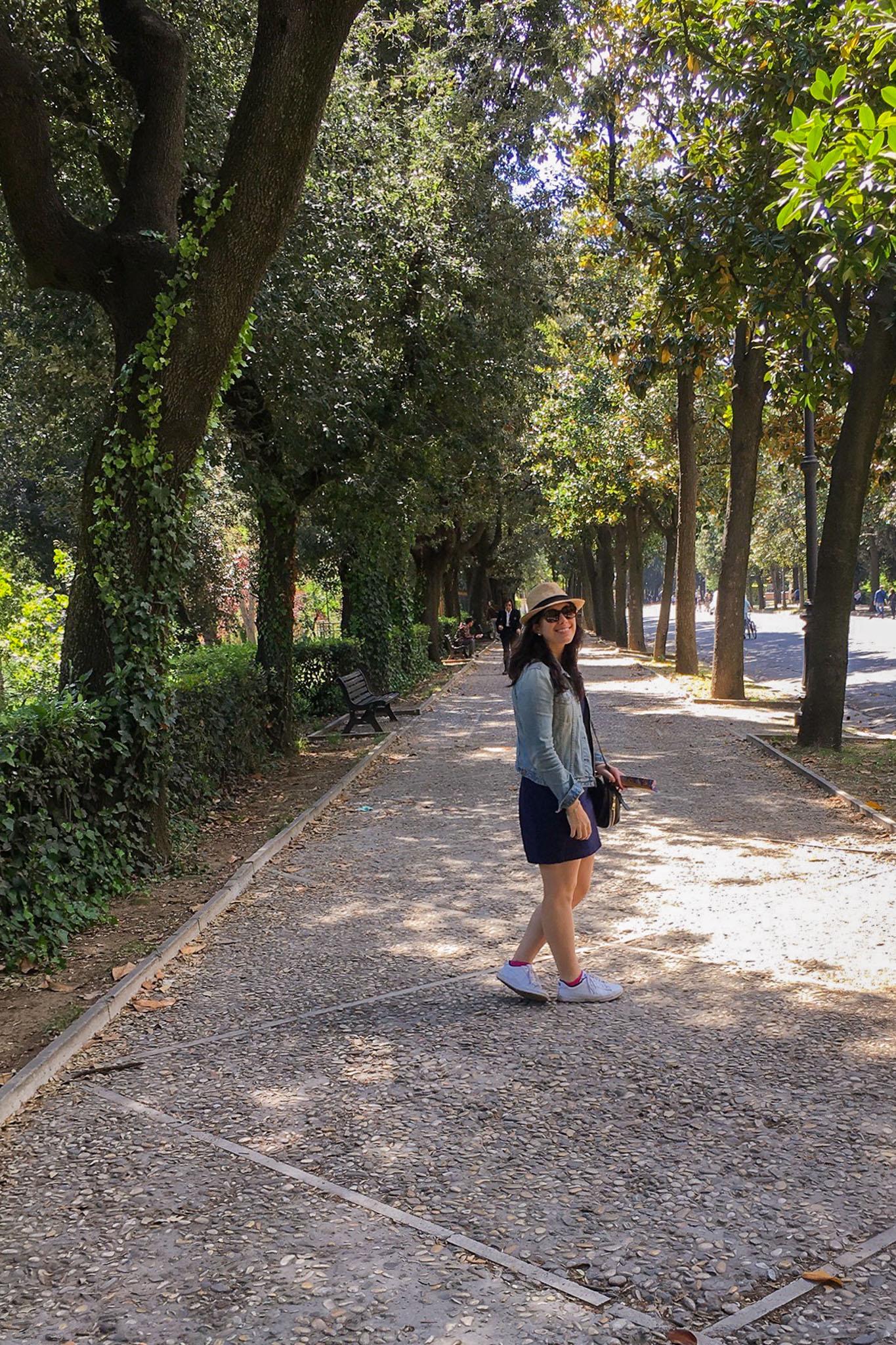 Walking through Villa Borghese