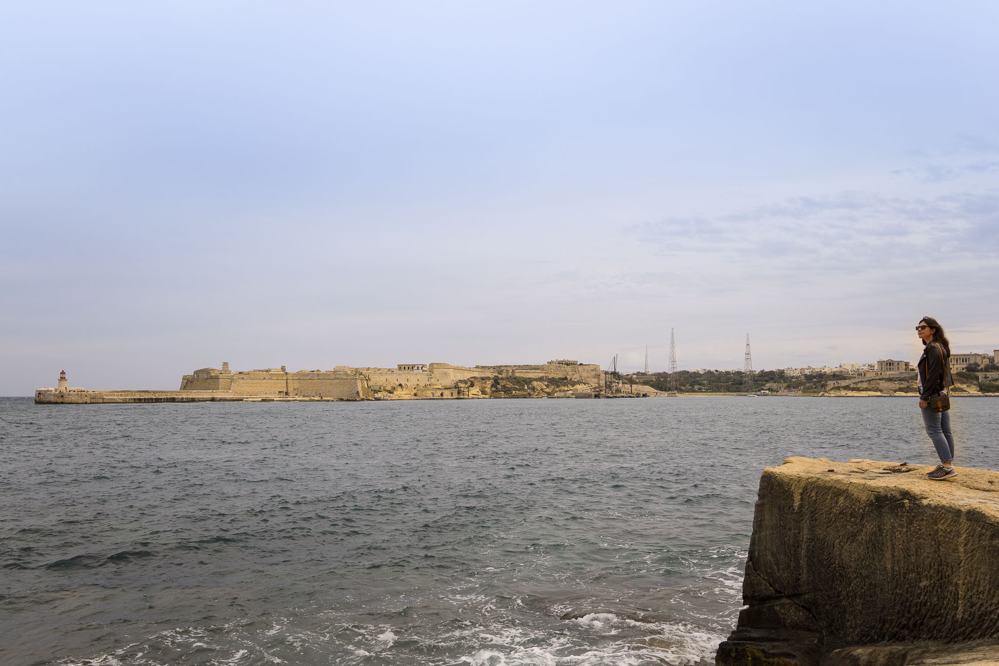 Looking out at the Three Cities from Valletta.