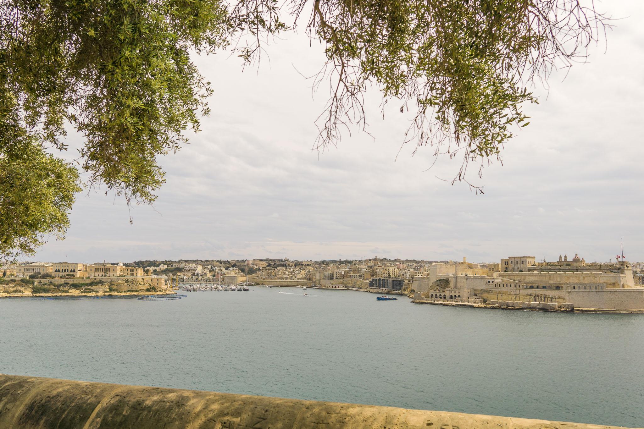 View from the Lower Barrakka Gardens.