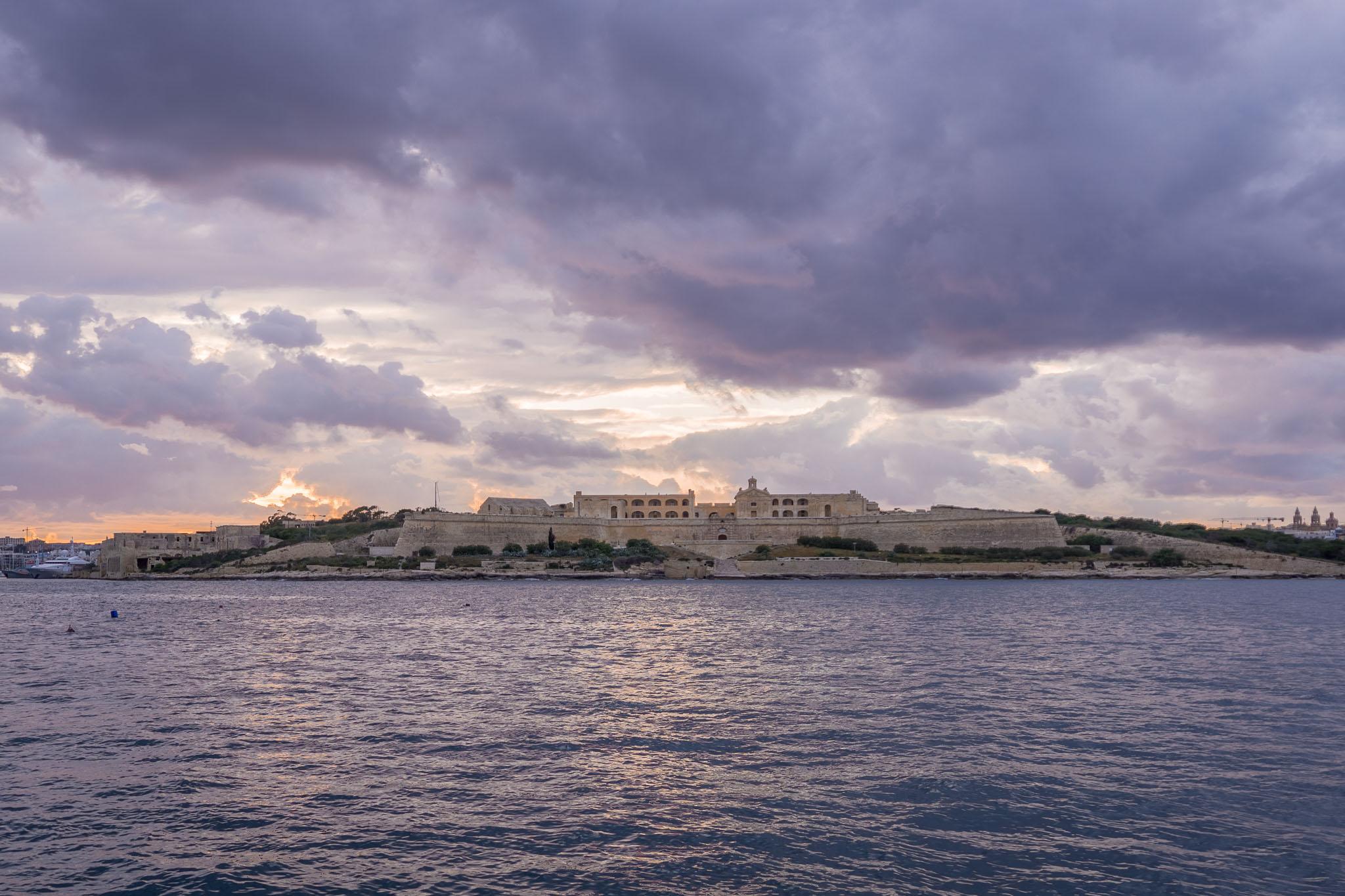 Sunset over Manoel Fort.