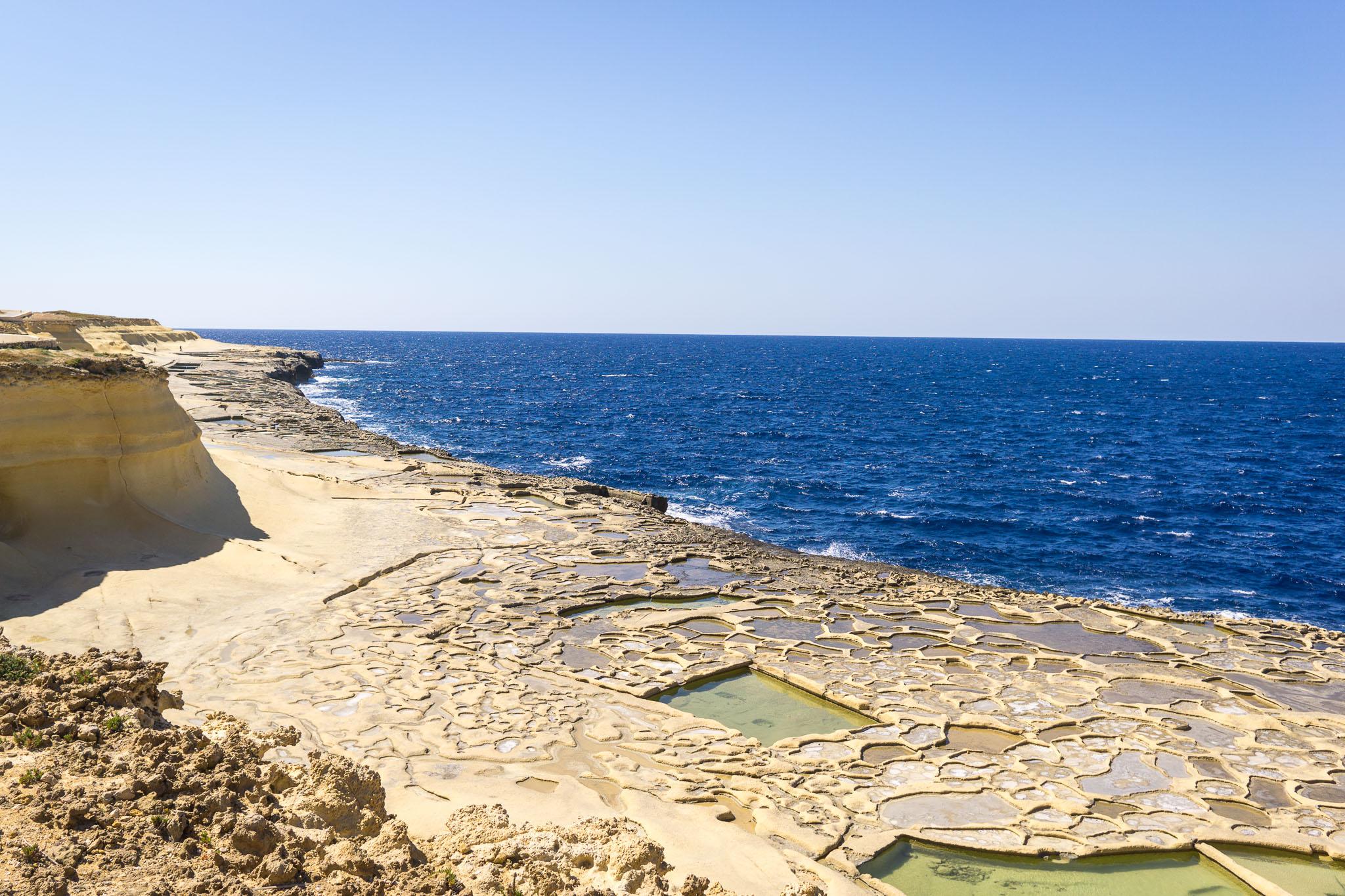 The Salt Pans on Gozo.