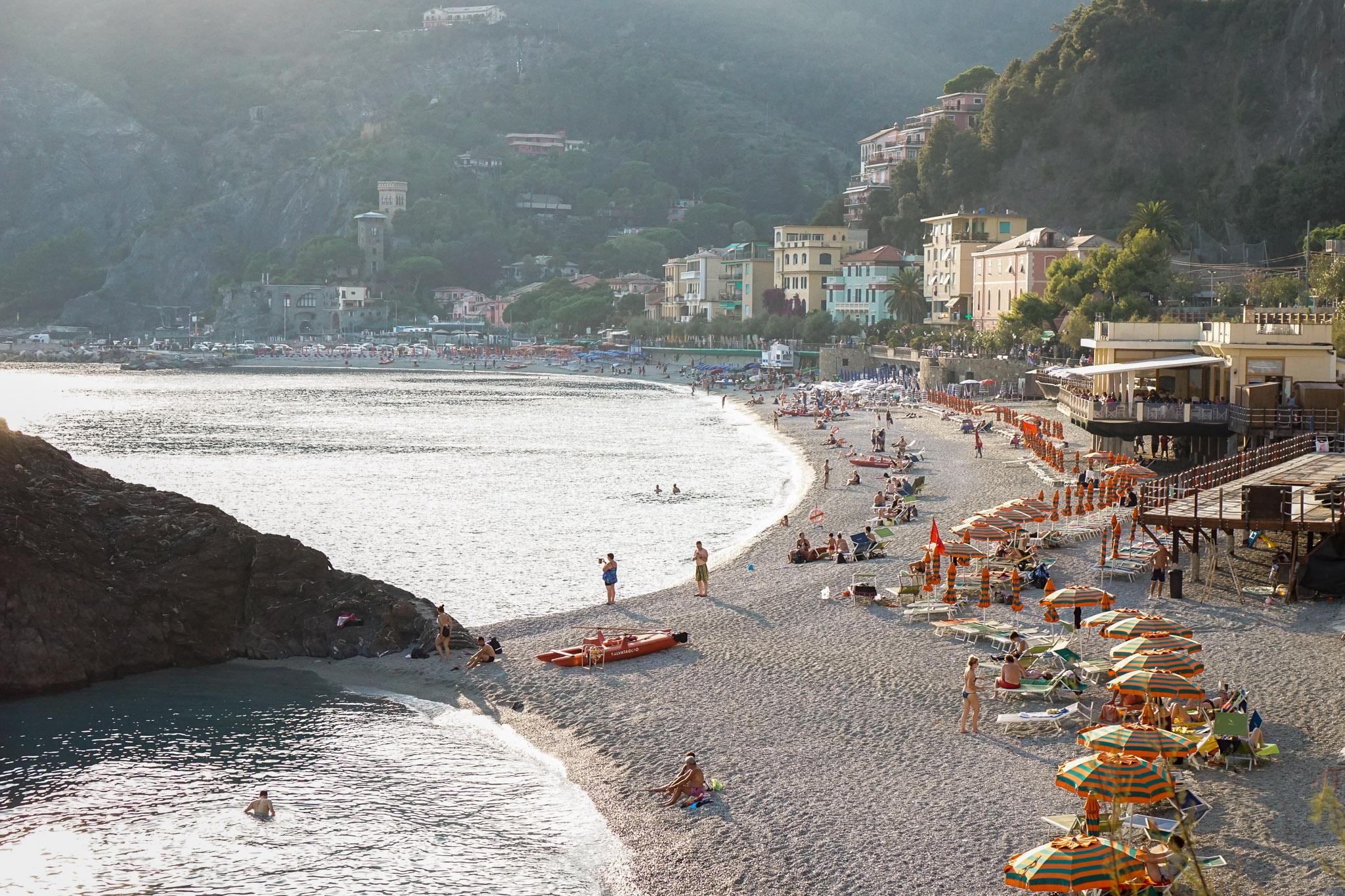 Fegina Beach in Monterosso.
