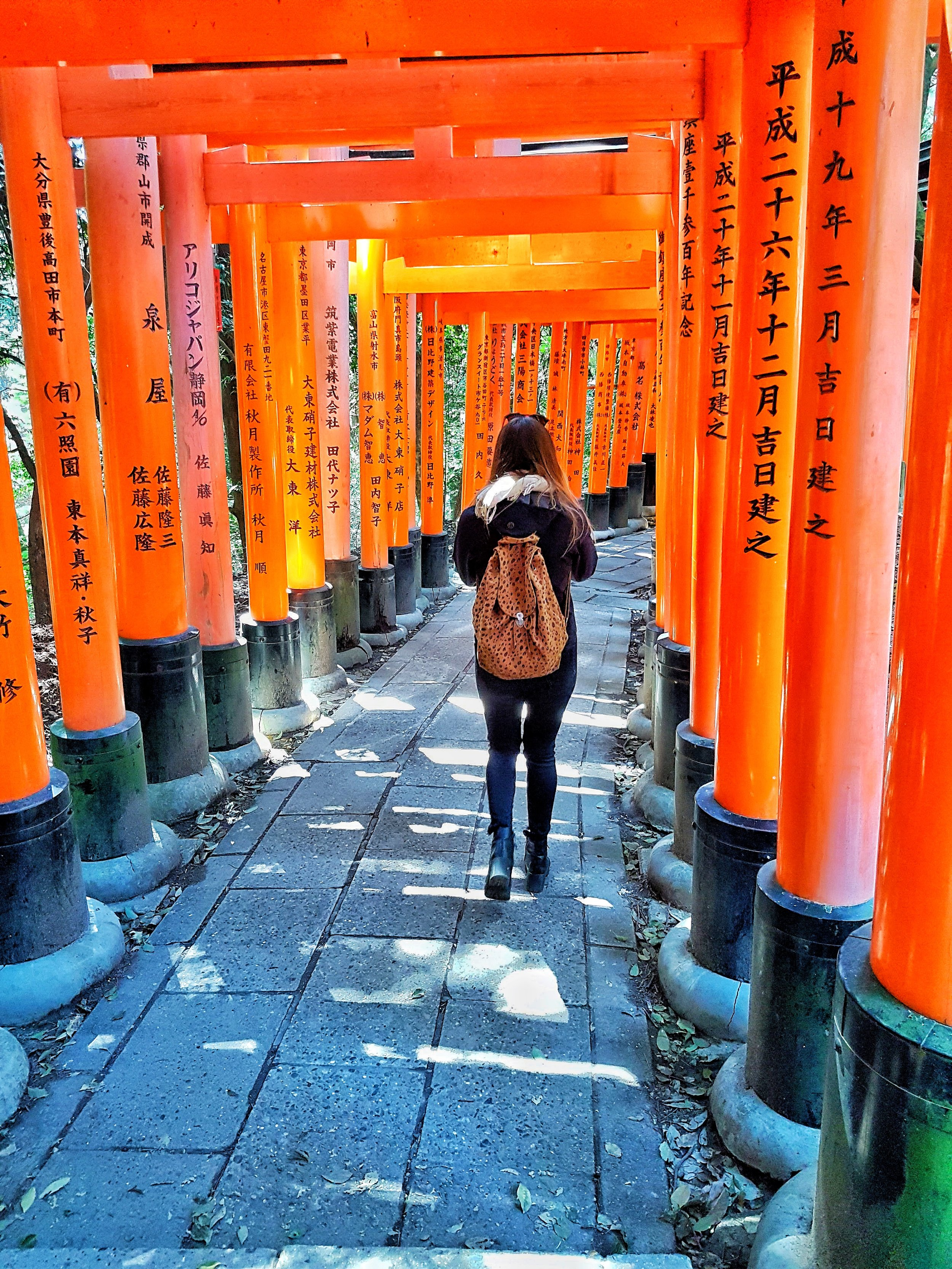 The Fushimi Inari-Taisha Shrine is said to have over 10,000 gates and they really are this orange!