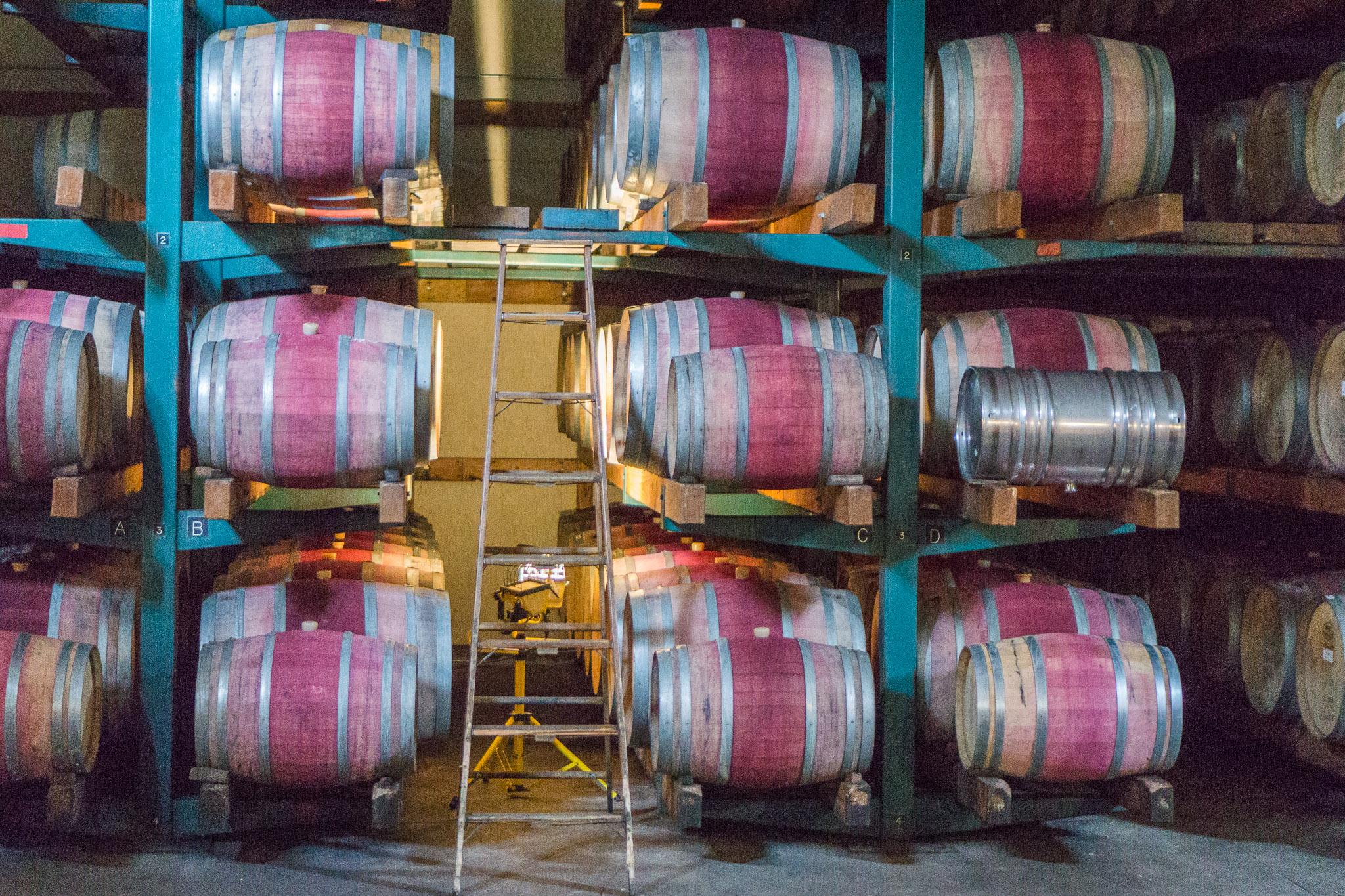 Aging barrels at Preston.