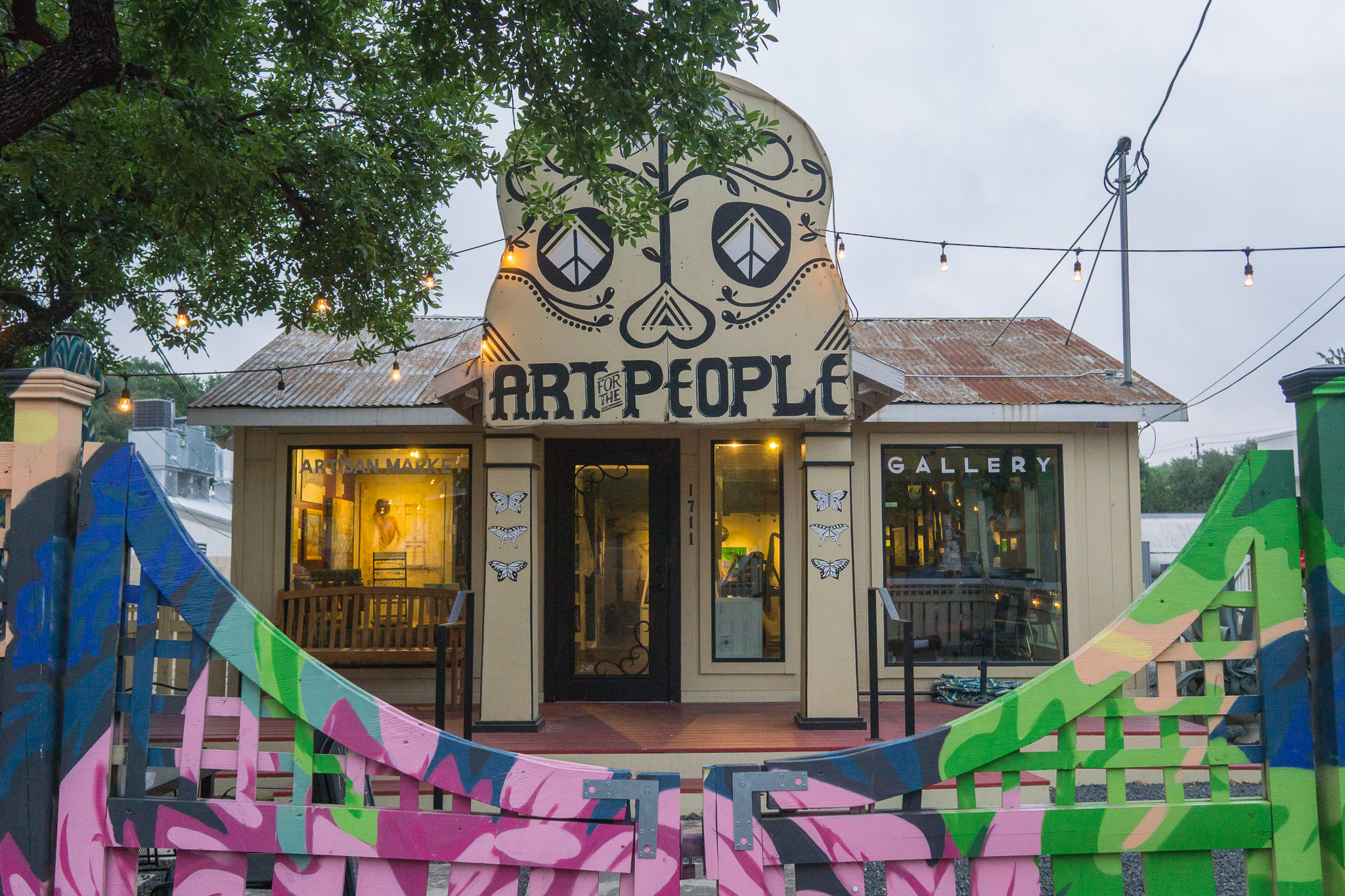 A gallery on South 1st.