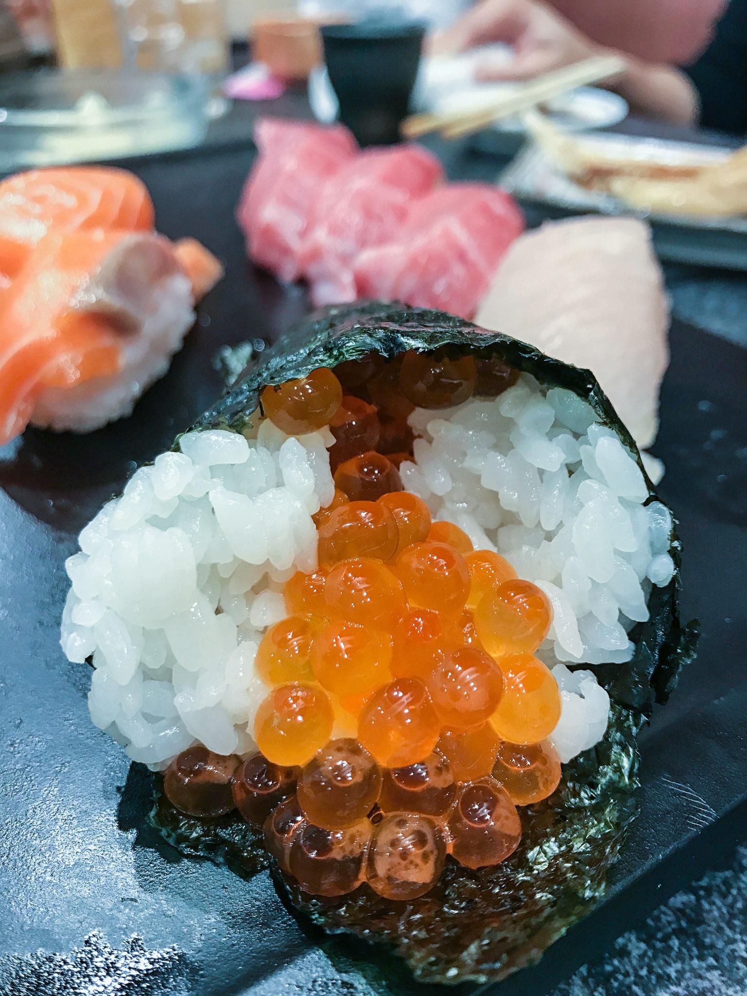 That's salmon roe, aka salmon fish eggs. YUM!