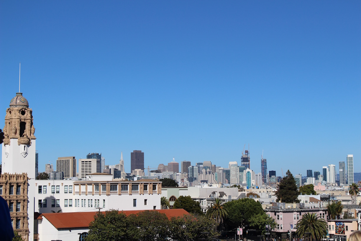 Skyline views from Mission Dolores Park.