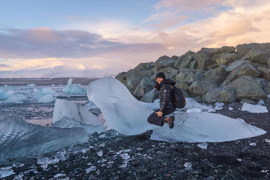 I sat on a seal on Diamond Beach. January, 2017