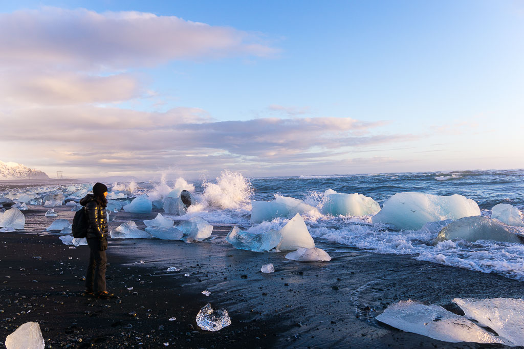 Diamond Beach, Iceland. January, 2017