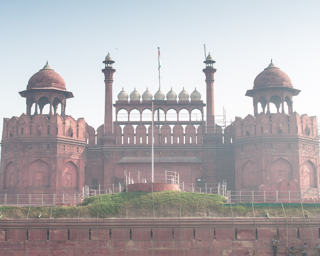 The Red Fort in Delhi, India.