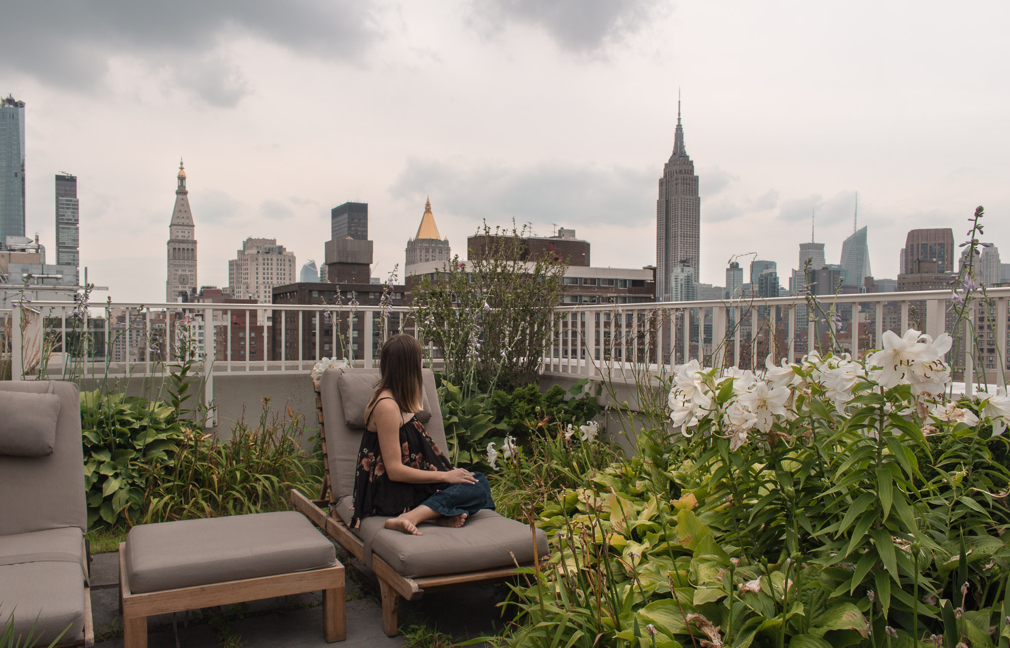 Rooftop views in New York City.