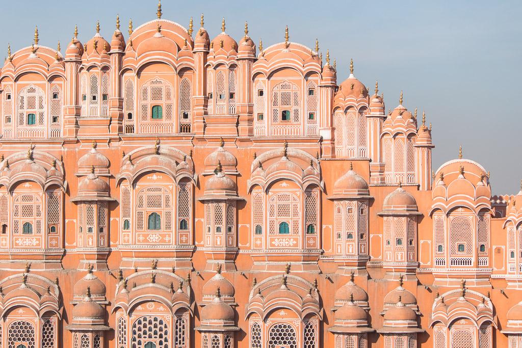 The Hawa Mahal in Jaipur, India.
