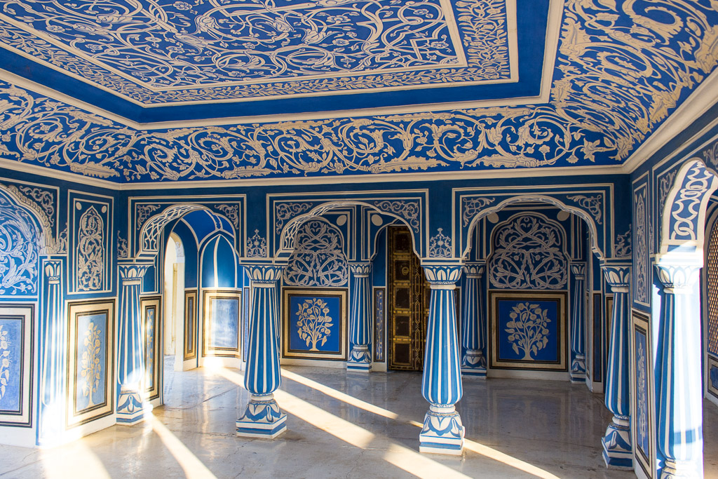 Inside the  City Palace in Jaipur.