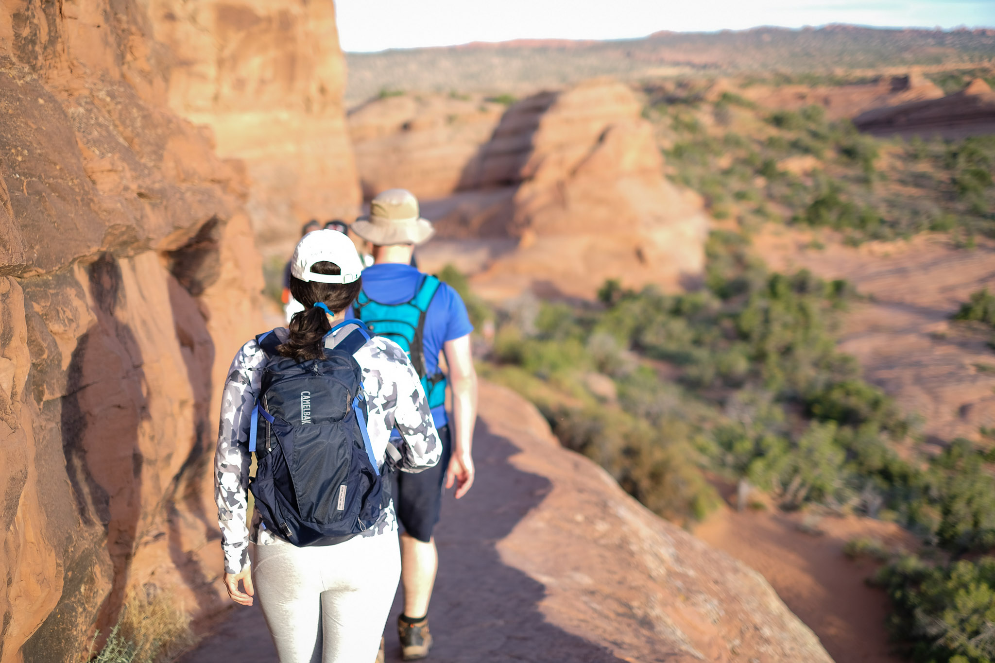 Hiking back from Delicate Arch