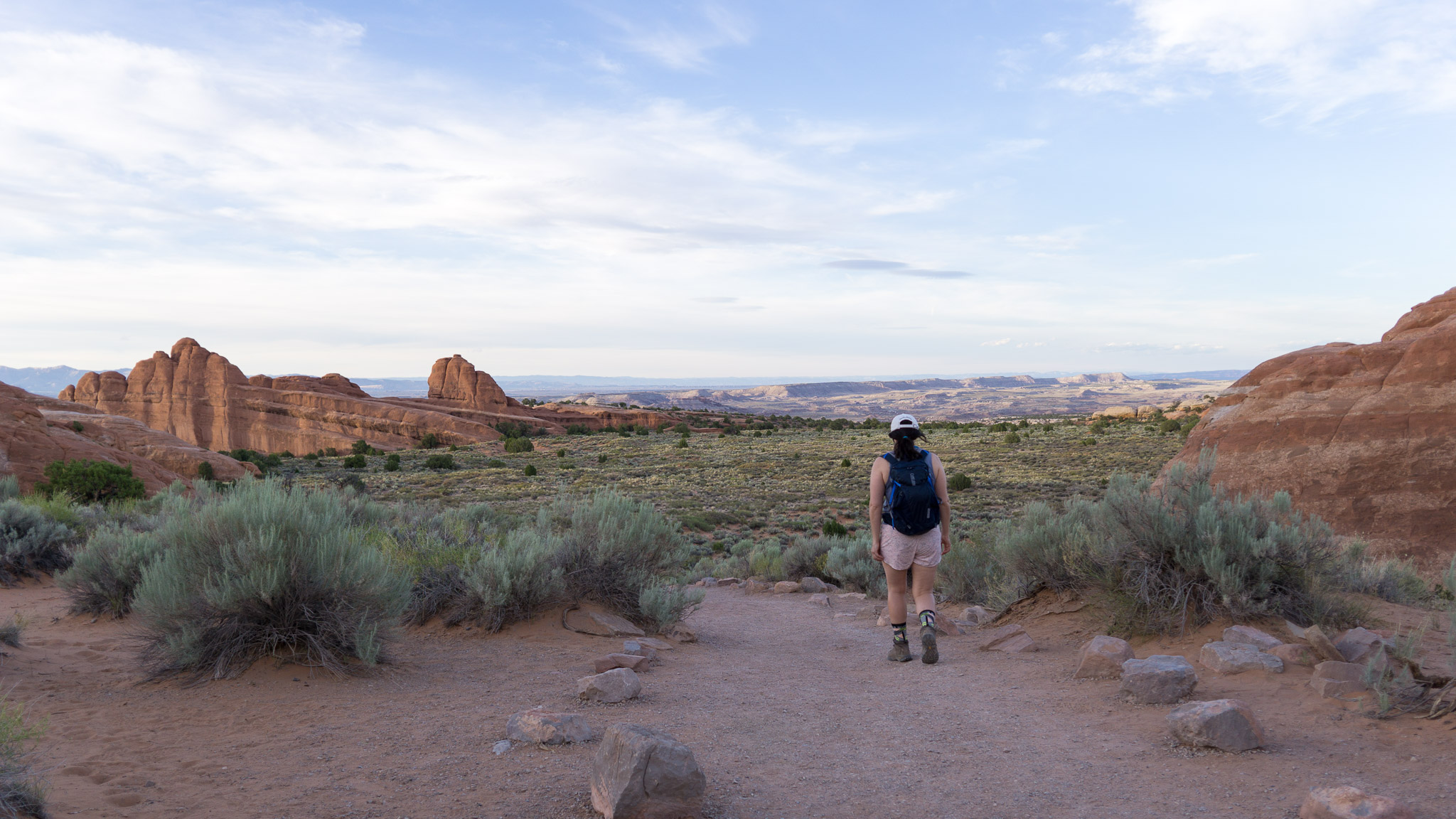 Hiking to Landscape Arch