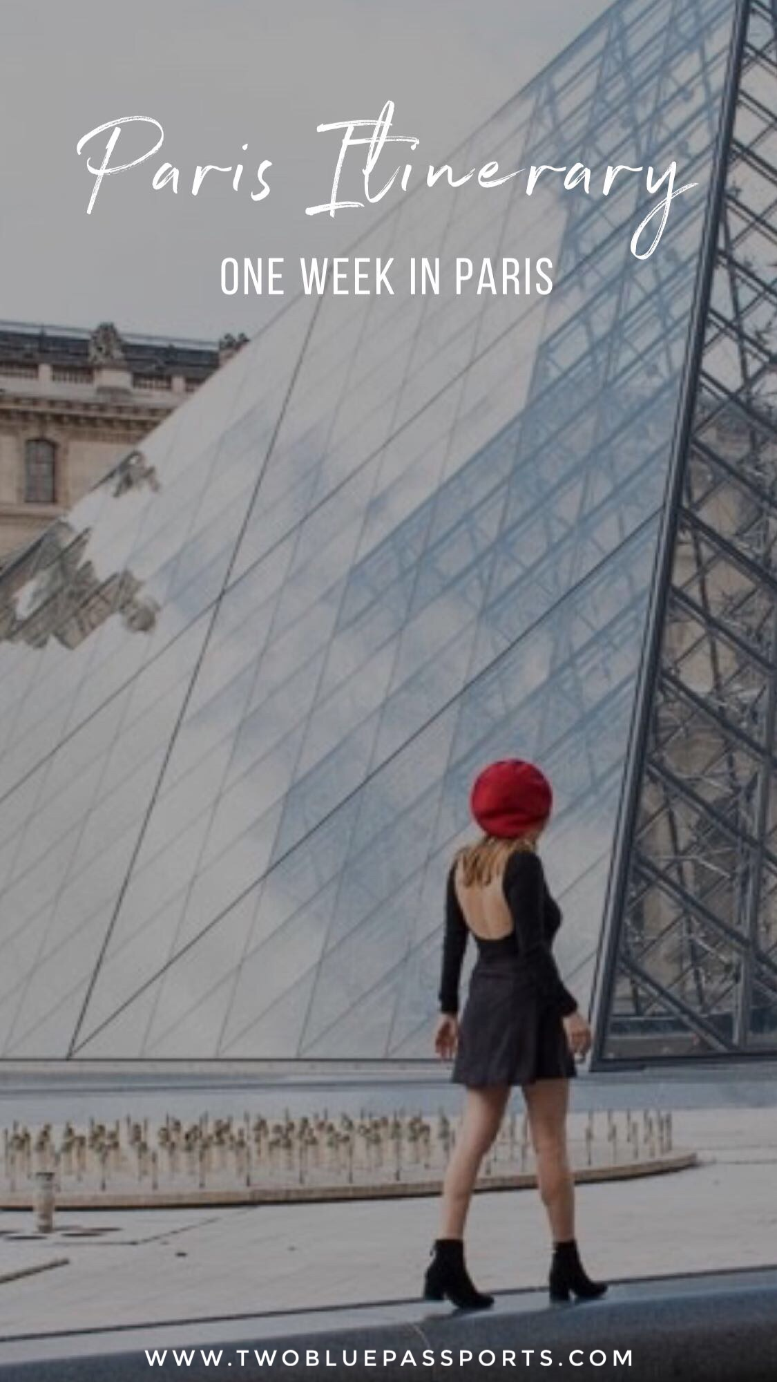 Two Blue Passports' One Week Itinerary for Paris, France. #Paris #France #Itinerary #Visitparis #VisitFrance #Louvre