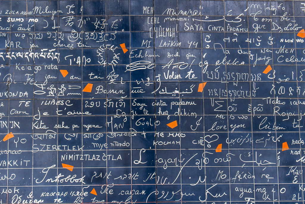 The Wall of Love. How many languages do you recognize?
