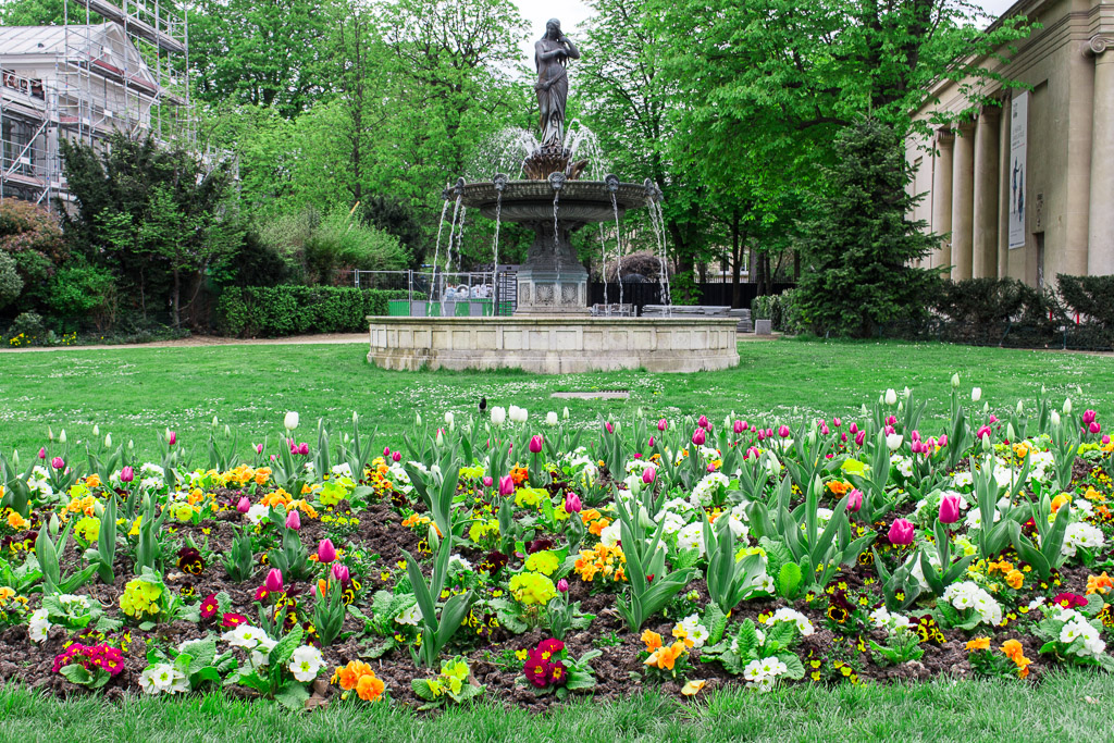 One of the beautiful fountains in Tuileries Garden.