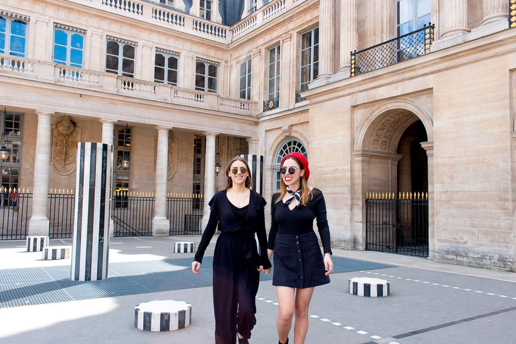 Les Colonnes de Buren in the courtyard of Palais Royal.