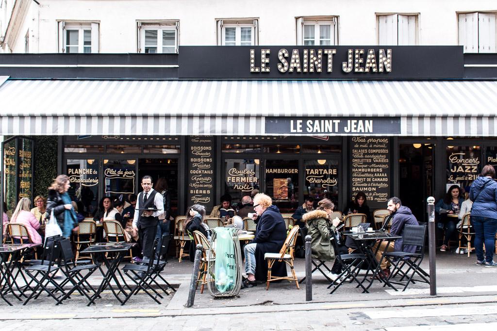 Le Saint Jean Cafe in Montmartre.