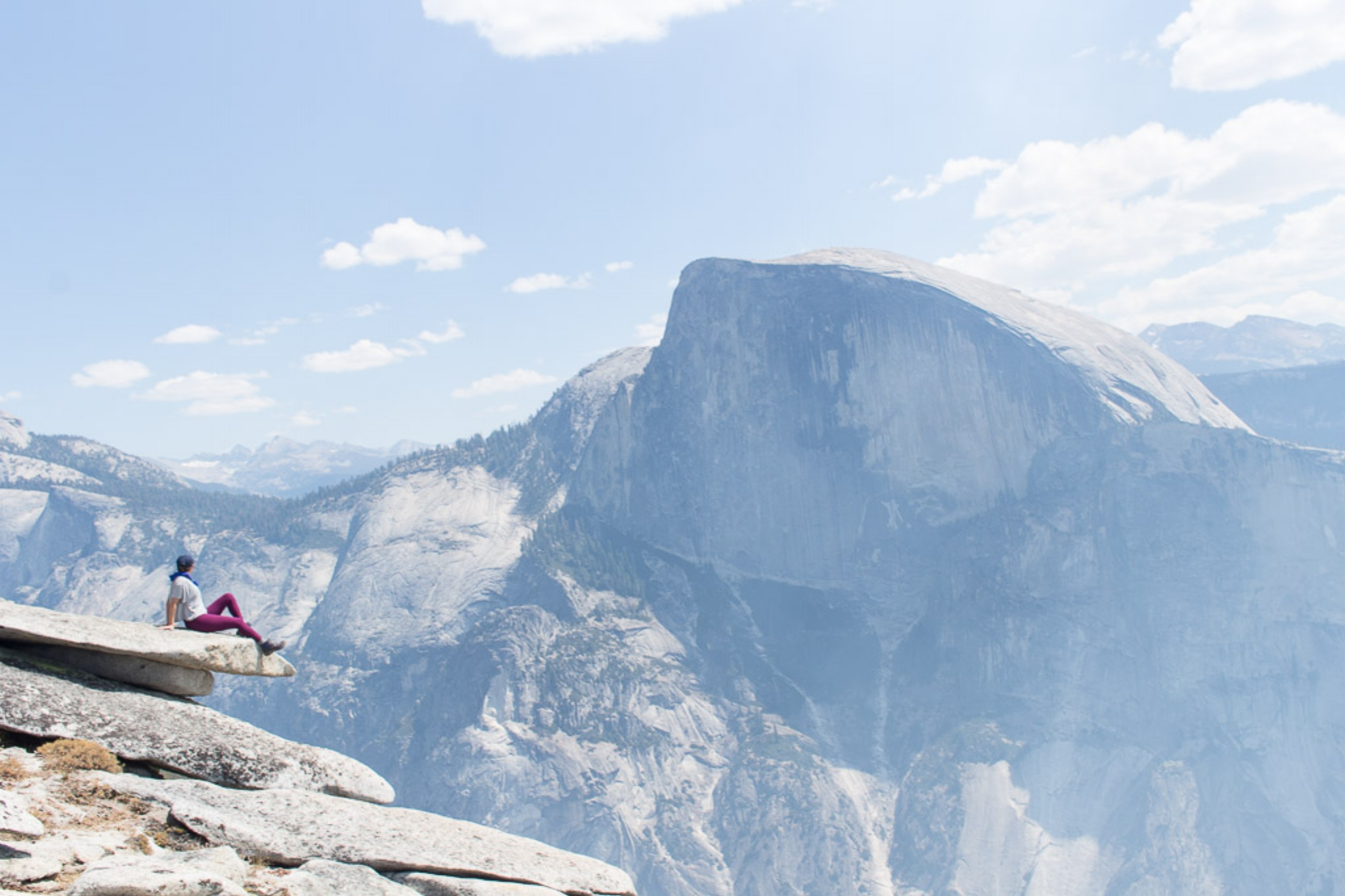 Views of Half Dome from North Dome.