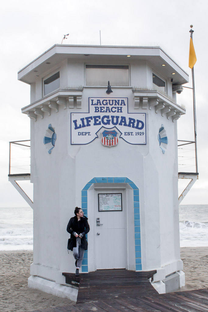 The Laguna Beach Lifeguard Tower at Main Beach. Our Saturday was rainy so we only had a short time to walk around and explore the tide pools. If you're here on a sunny day, spend as much time at the beach as you can!