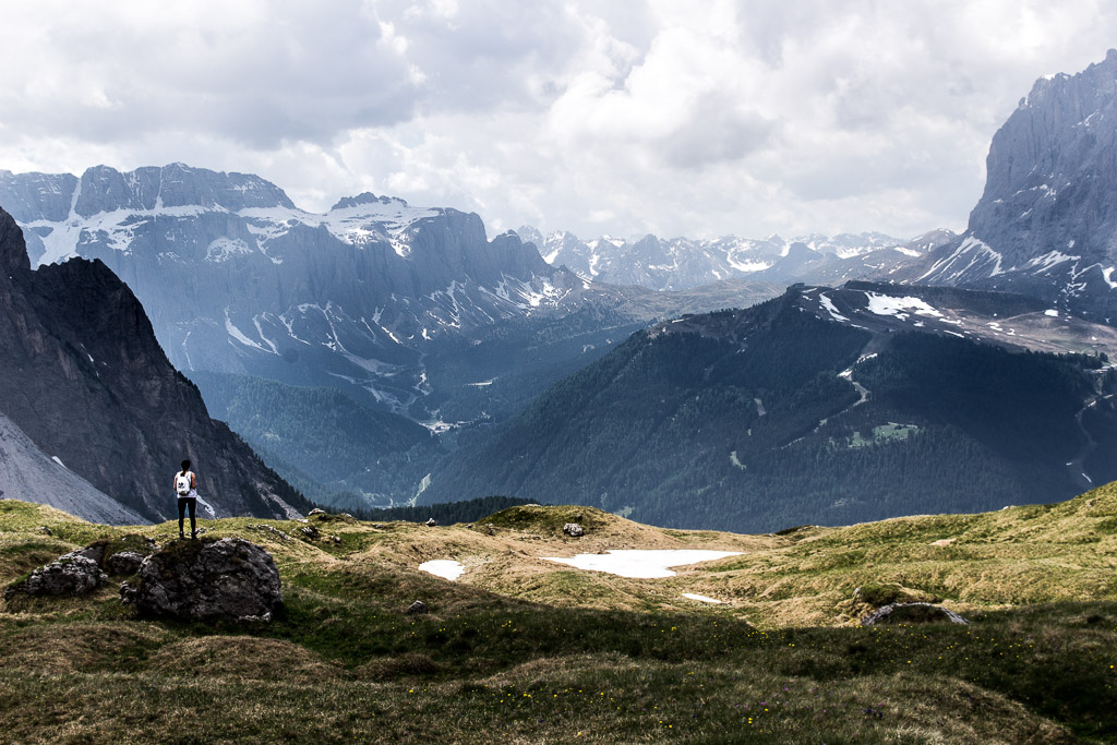 HIking Seceda on our first day in the Dolomites.