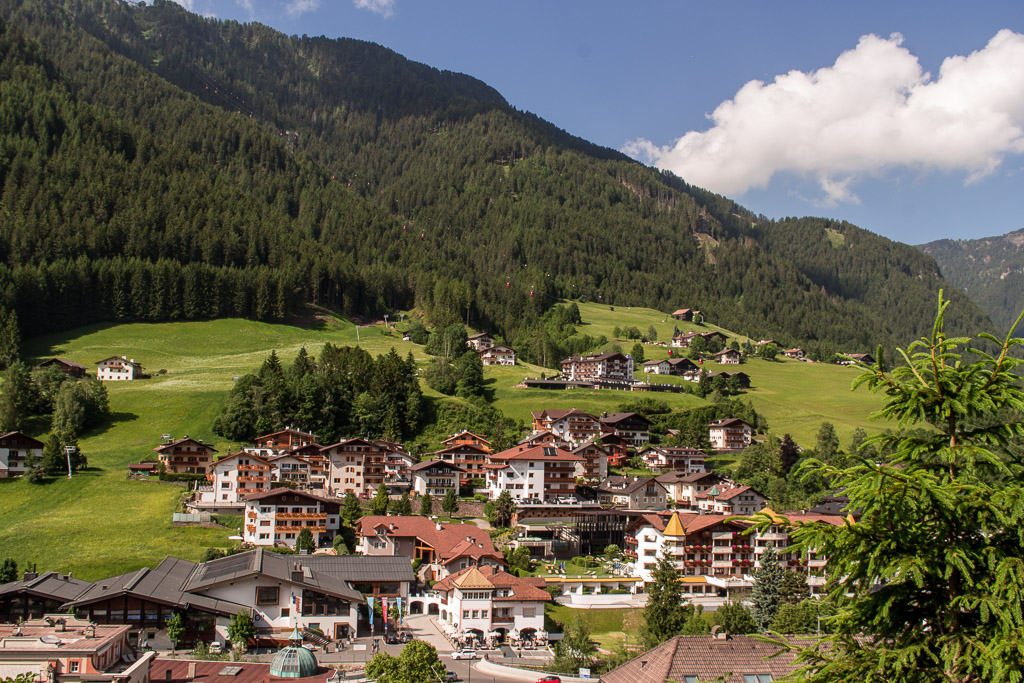 A view of Ortisei from the gondola ride.