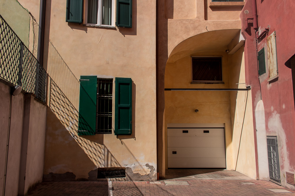 Colorful corners in Bologna, Italy.