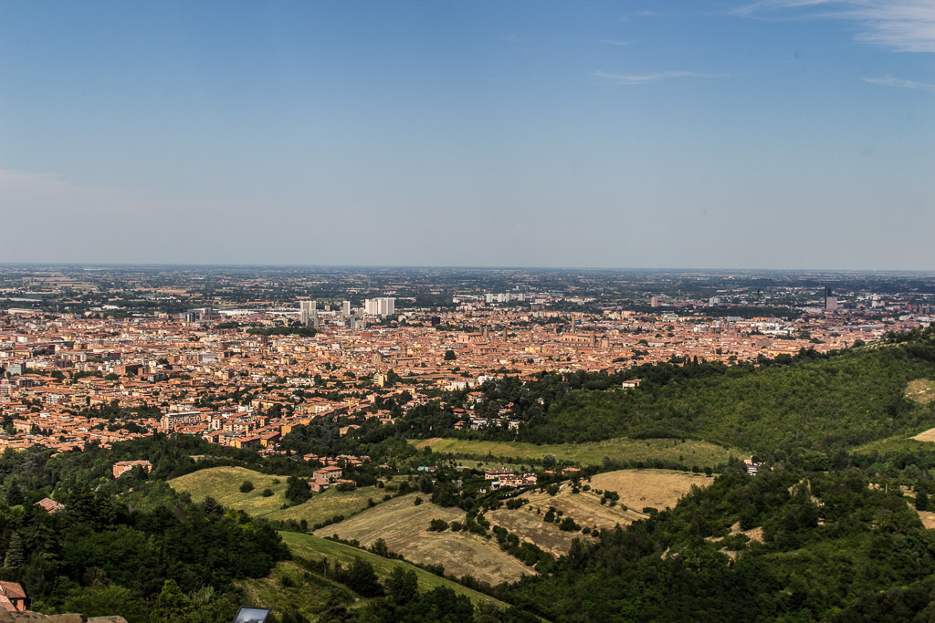 The best view of Bologna can be found at the top of the San Luca portico walk.