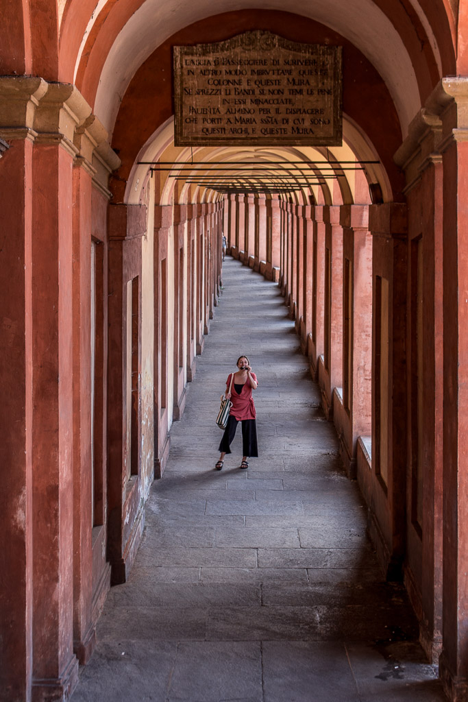 Snapping some photos on the way up to Sanctuary Madonna di San Luca.