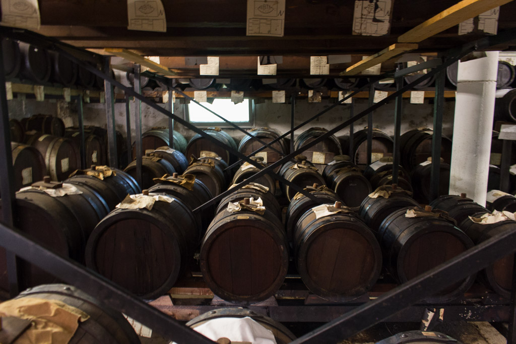 The barrels where balsamic vinegar is aged.