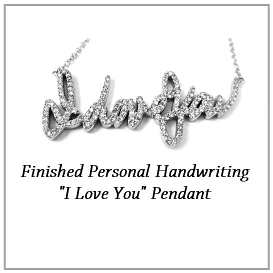 I Love You Custom Handwriting Pendant
