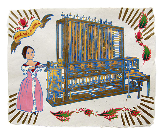 "Ada Lovelace,  2015  16"" x 20"" Flashe on paper"