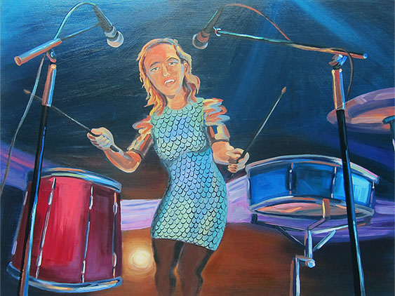 "TuNe-yArDs , 2014  48"" x 96"" Oil on canvas"