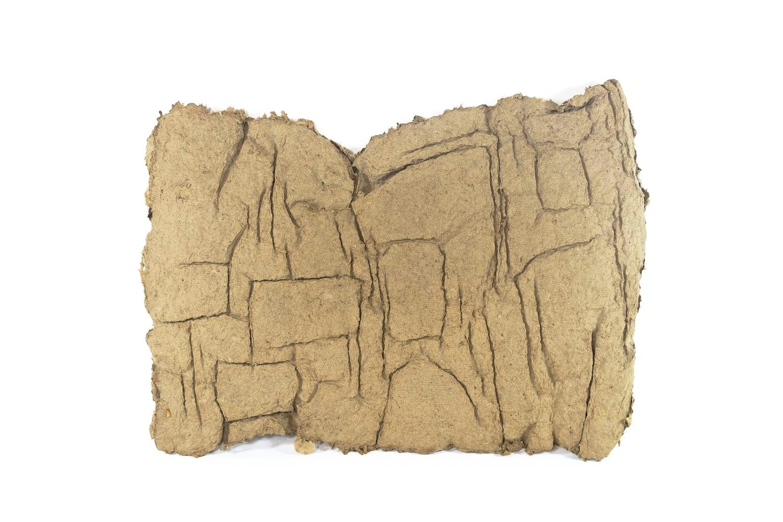Sumerian , paper pulp, 10 x 15 x 3 in, 2016.